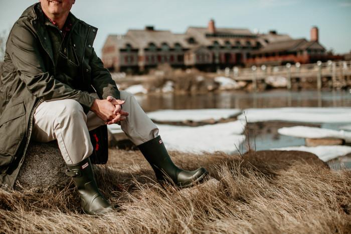 Hunter Boots at the Weekapaug Inn