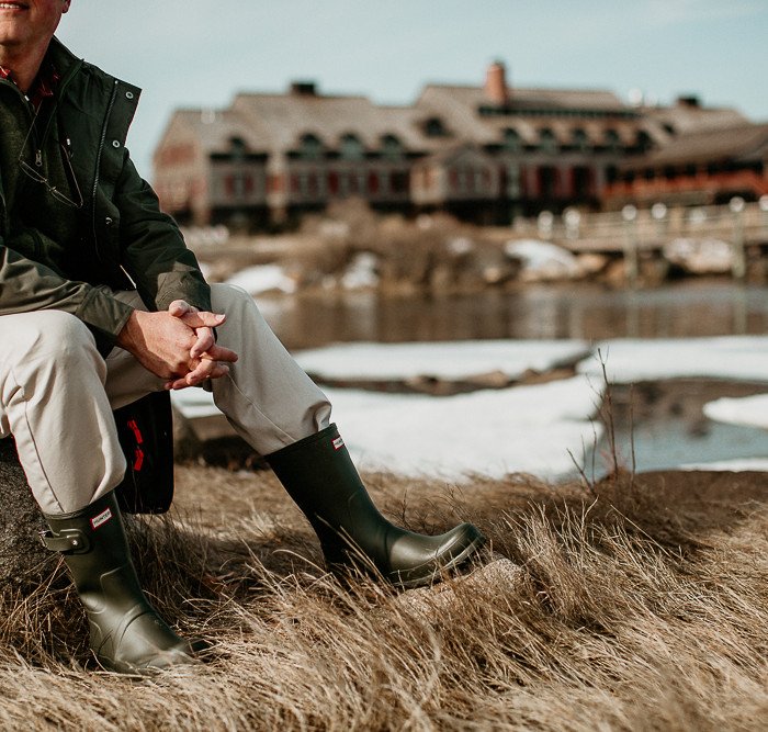 Hunter Boots at the Weekapaug Inn